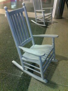 Rocking chair in Logan, sans rocker