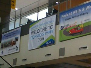 Convio welcome banner in Austin