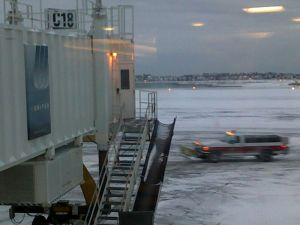 Snow at Logan December 20, 2009